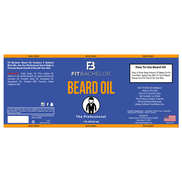 Fit Bachelor Beard Oil The Professional Label