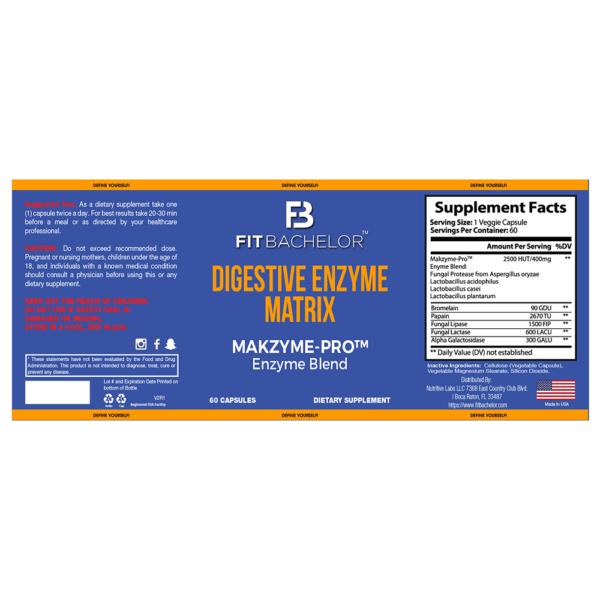 Fit Bachelor Digestive Enzyme Matrix